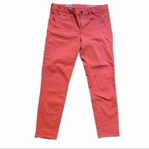 GAP coral legging jeans.Coral orange pink.Mid rise